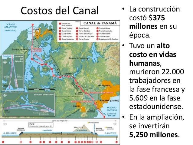 El canal de panam y sus aportes for Costo de la construccion