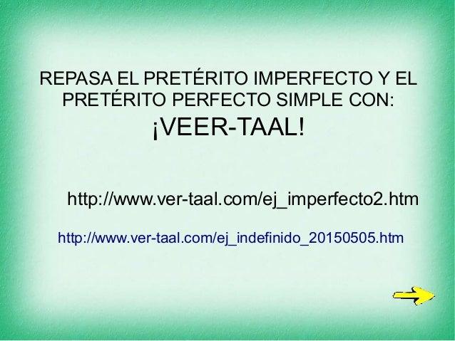 PowerPoint Pretérito perfecto simple y pretérito imperfecto
