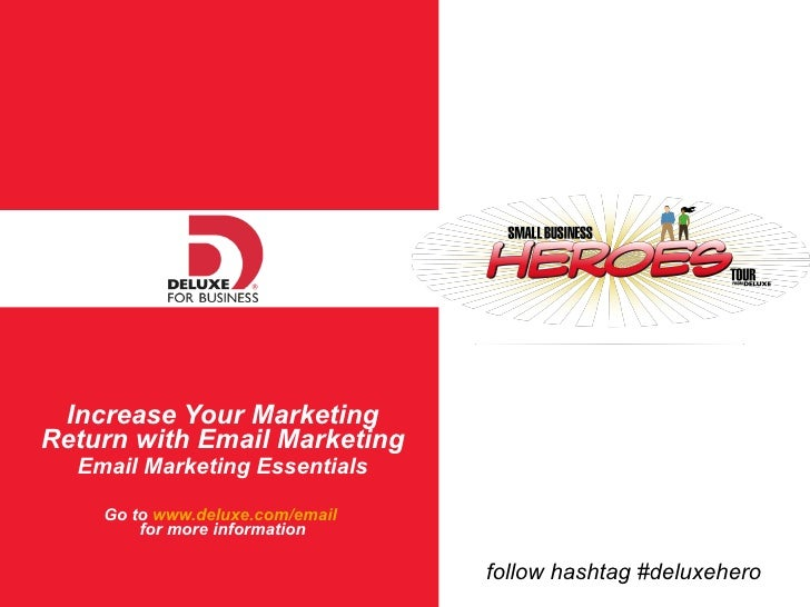 Email Marketing - Deluxe Small Business Heroes Tour