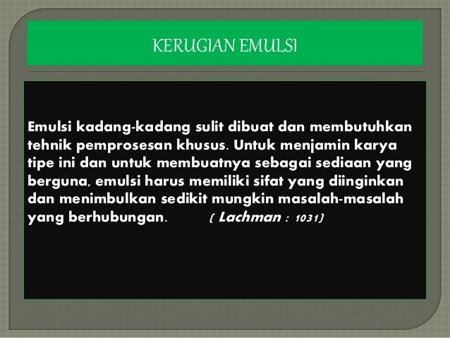 Ppt Emulsi