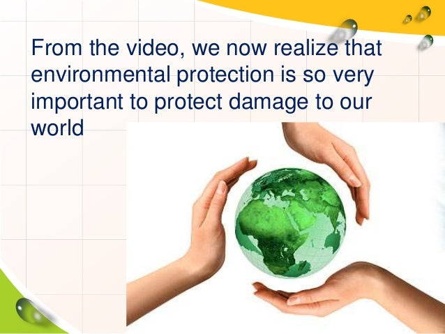why is important to protect the environment