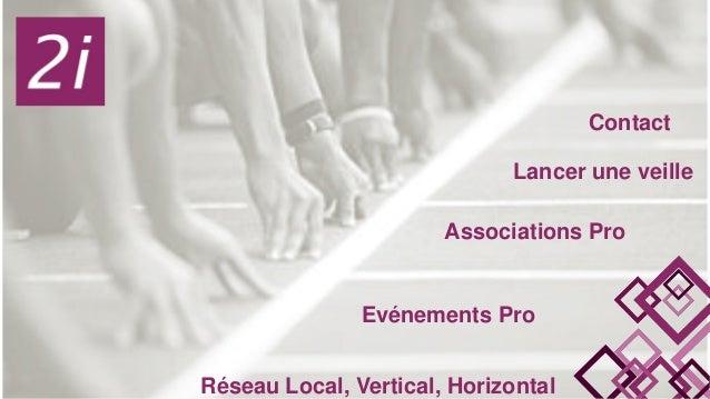 Contact Lancer une veille Associations Pro Evénements Pro Réseau Local, Vertical, Horizontal