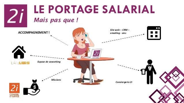 Espace de coworking Missions Site web – CRM – emailing - sms Conciergerie 2i LE PORTAGE SALARIAL Mais pas que ! ACCOMPAGNE...