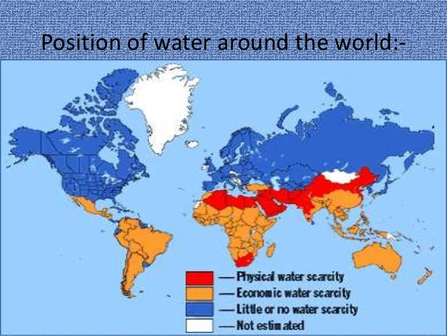 countries with water scarcity