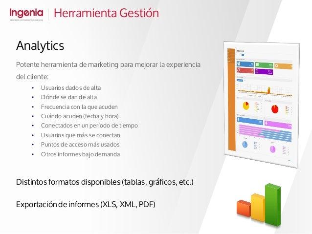 Herramienta Gestión Potente herramienta de marketing para mejorar la experiencia del cliente: • Usuarios dados de alta • D...