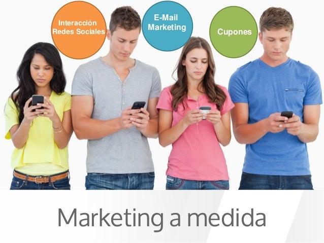 Interacción Redes Sociales E-Mail Marketing Cupones Marketing a medida