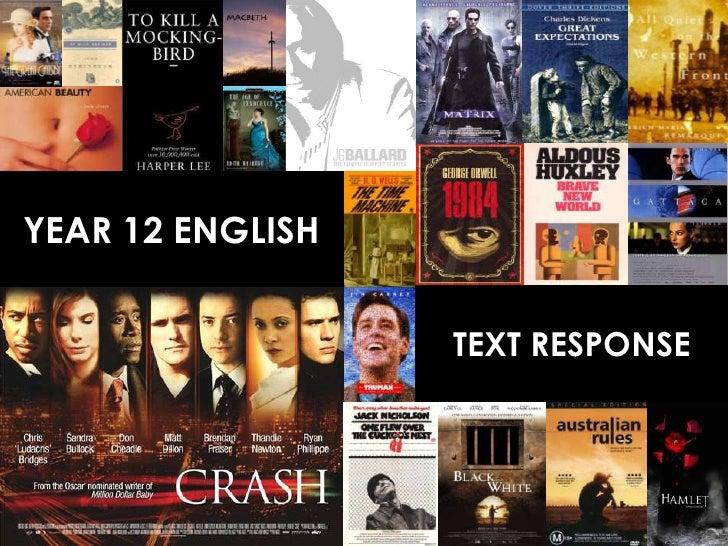 YEAR 12 ENGLISH                  TEXT RESPONSE