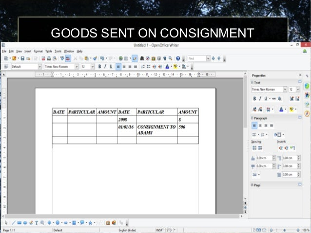 consignement accounting Consignment is the act of consigning, the act of giving over to another person or agent's charge, custody or care any material or goods but retaining legal ownership until the material or goods are sold.