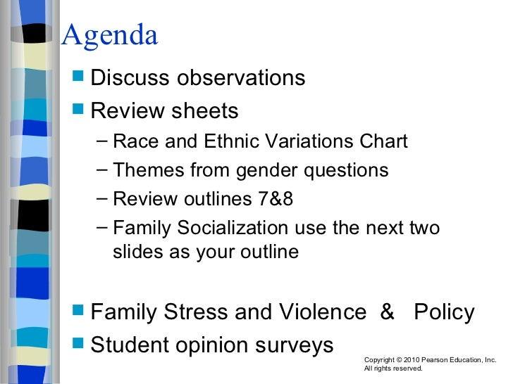 Agenda <ul><li>Discuss observations </li></ul><ul><li>Review sheets </li></ul><ul><ul><li>Race and Ethnic Variations Chart...