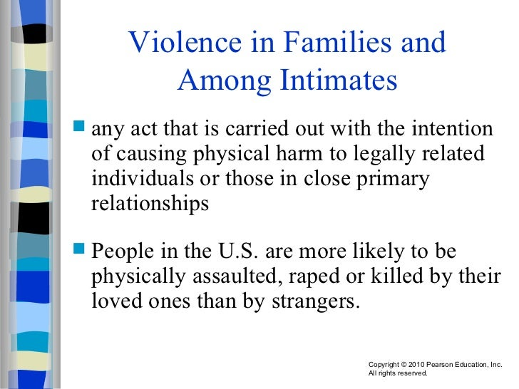 violence in the family Violence prevention: risk factors there are known risk factors associated with potential violence toward self and others it is important to keep in mind that none of these risk factors alone is sufficient for predicting violence family risk factors.