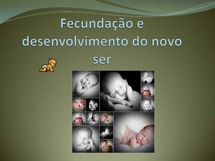 Fecundação e desenvolvimento do novo ser<br />
