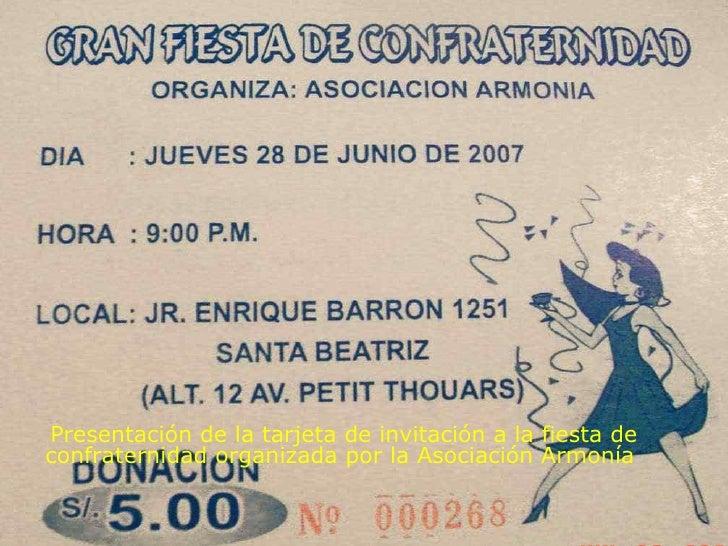 Fiesta Asociación Armonía Huanta