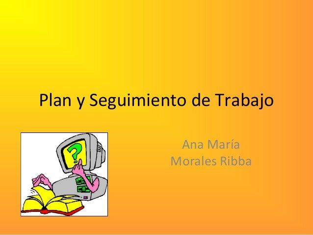 Plan y Seguimiento de Trabajo Ana María Morales Ribba