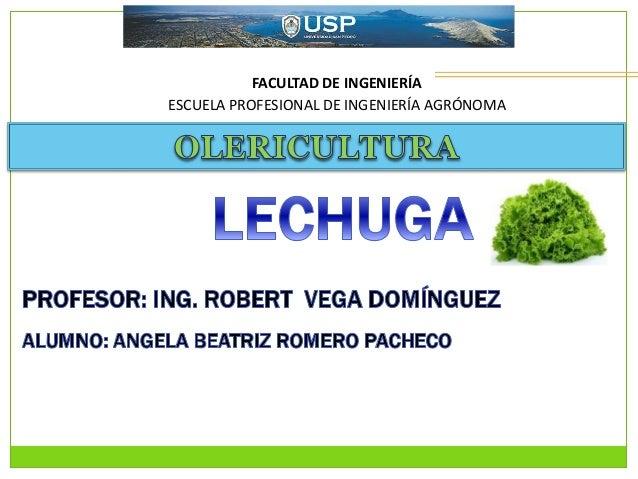 FACULTAD DE INGENIERÍA ESCUELA PROFESIONAL DE INGENIERÍA AGRÓNOMA