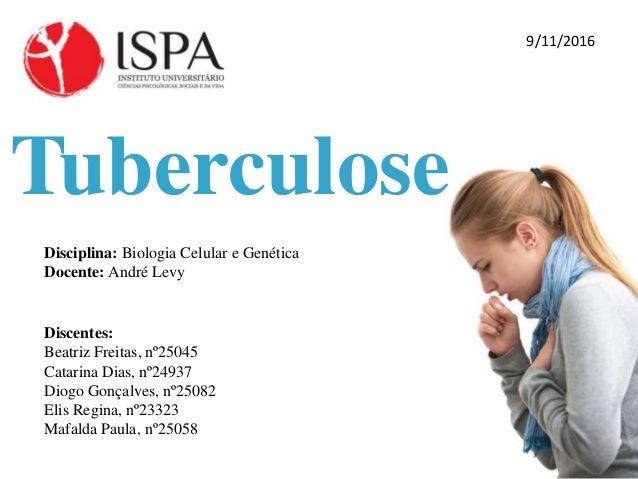 Tuberculose Disciplina: Biologia Celular e Genética Docente: André Levy Discentes: Beatriz Freitas, nº25045 Catarina Dias,...