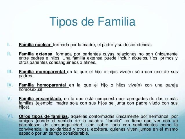 La familia es pieza importante en el proceso de Tipos de familia nuclear