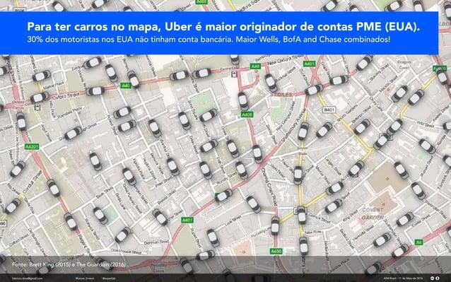fabricio.dore@gmail.com AIM Brasil - 11 de Maio de 2016#future_fintech @superfab Para ter carros no mapa, Uber é maior ori...