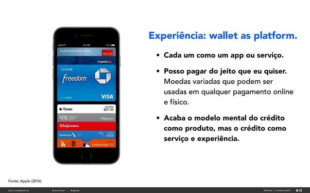 fabricio.dore@gmail.com AIM Brasil - 11 de Maio de 2016#future_fintech @superfab Fonte: Apple (2016) • Cada um como um app...