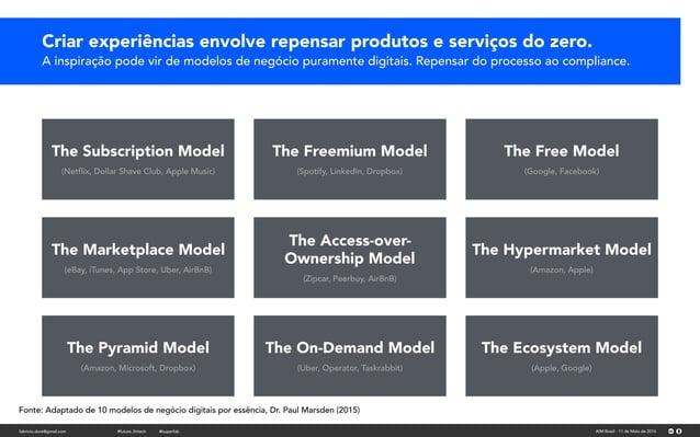 Criar experiências envolve repensar produtos e serviços do zero. A inspiração pode vir de modelos de negócio puramente dig...