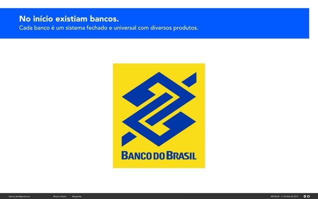 No início existiam bancos.No início existiam bancos. Cada banco é um sistema fechado e universal com diversos produtos. fa...