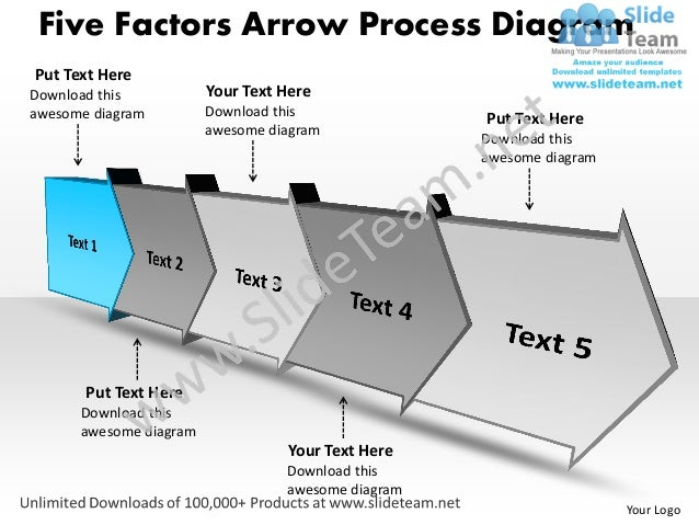 ppt five factors arrow process swim lane diagram powerpoint template …, Modern powerpoint