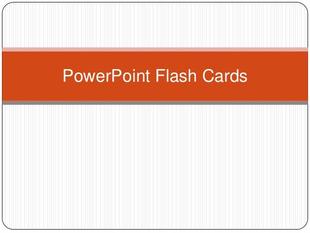 PowerPoint Flash Cards