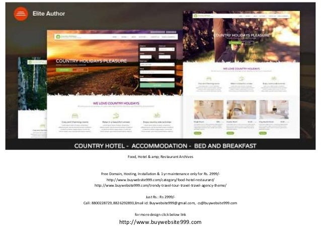 Food, Hotel & amp; Restaurant Archives Free Domain, Hosting, Installation & 1 yr maintenance only for Rs. 2999/- http://ww...