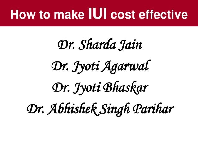 How To Make Iui Cost Effective