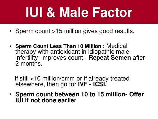 Sperm count artificial insemination