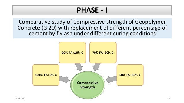 geopolymer concrete Vi results and discussions in this investigation, to study the strength properties of geopolymer concrete, 5 different mixes were prepared by.