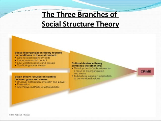 social structure theory In the study of larger social groups, the problem of selection is acute: much  depends on what is included as components of the social structure various  theories.