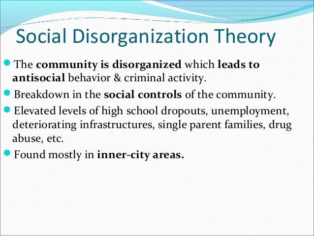 causes of social disorganization