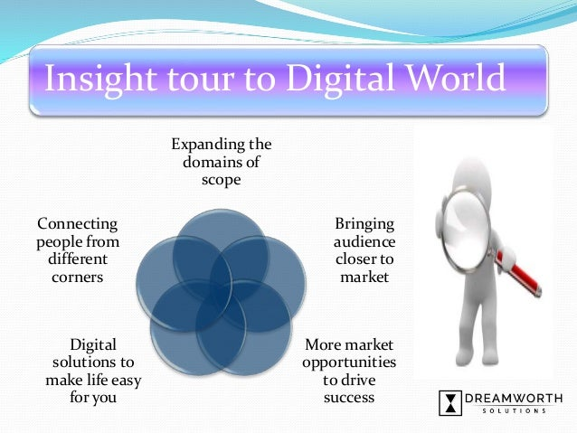 Insight tour to Digital World Expanding the domains of scope Bringing audience closer to market More market opportunities ...