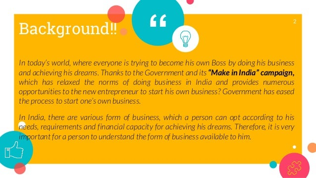 Forms of doing business in India – An Opportunity to achieve Dreams Slide 2