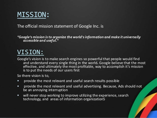 ppt for presentation on google inc