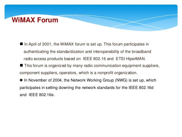 Wimax ppt | wi max | internet access.