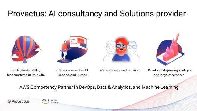 Provectus: AI consultancy and Solutions provider Established in 2010, Headquartered in Palo Alto 450 engineers and growing...