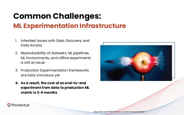 Common Challenges: ML Experimentation Infrastructure 1. Inherited issues with Data Discovery and Data Access 2. Reproducib...