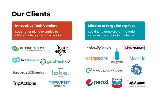 Innovative Tech Vendors Seeking for niche expertise to differentiate and win the market Midsize to Large Enterprises Seeki...