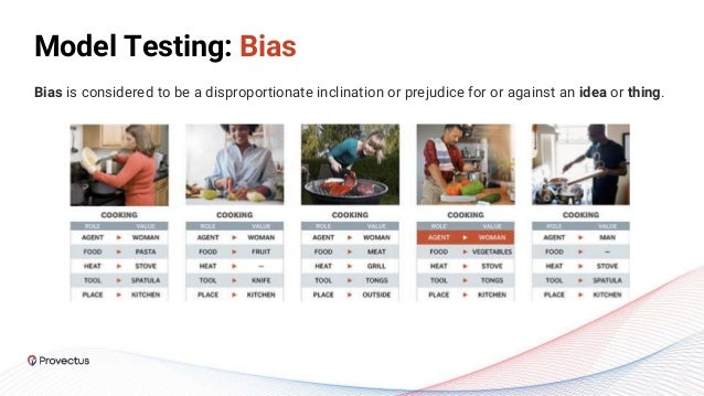 Model Testing: Bias Bias is considered to be a disproportionate inclination or prejudice for or against an idea or thing.