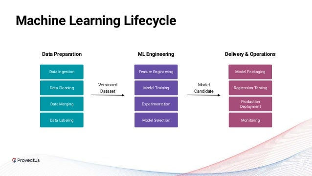Machine Learning Lifecycle Data Ingestion Data Cleaning Data Merging Data Labeling Feature Engineering Versioned Dataset M...