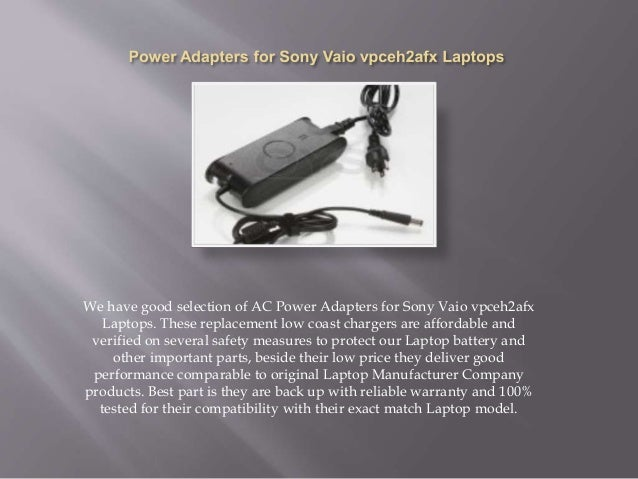 Sony Vaio VPCEH2AFX Driver for Windows