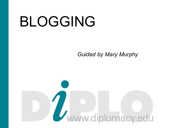 BLOGGING      Guided by Mary Murphy