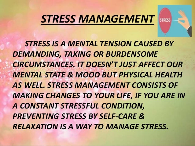stress prevention and management iu