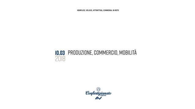 PRODUZIONE DEL FUTURO CITTÀ DEL FUTURO SEMPLICE/VELOCE/ATTRATTIVA/CONNESSA/IN RETE