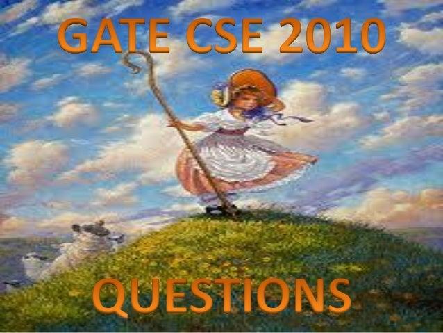 Pptgatecse2010questions