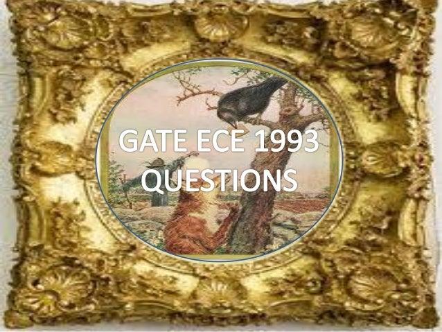 Pptgateece1993questions
