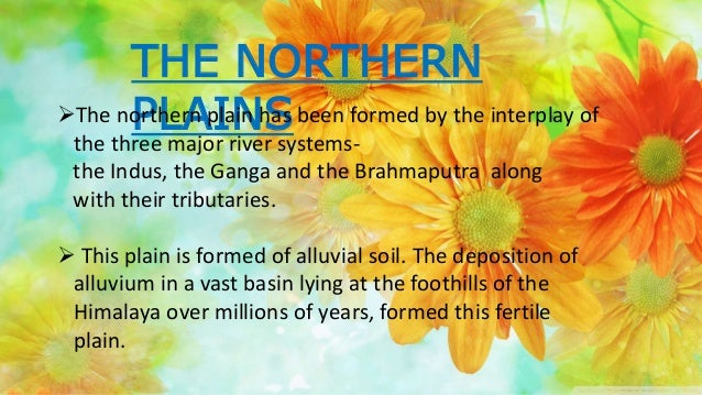 THE NORTHERN PLAINSThe northern plain has been formed by the interplay of the three major river systems- the Indus, the G...