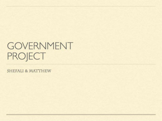 Government 101: Create your own society project