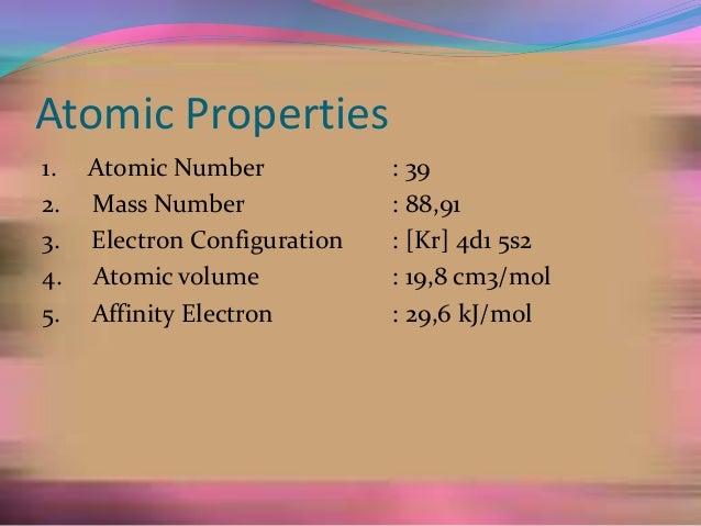What is scandium atomic number